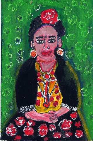 Portrait of Frida Kahlo by Katie Pfeiffer