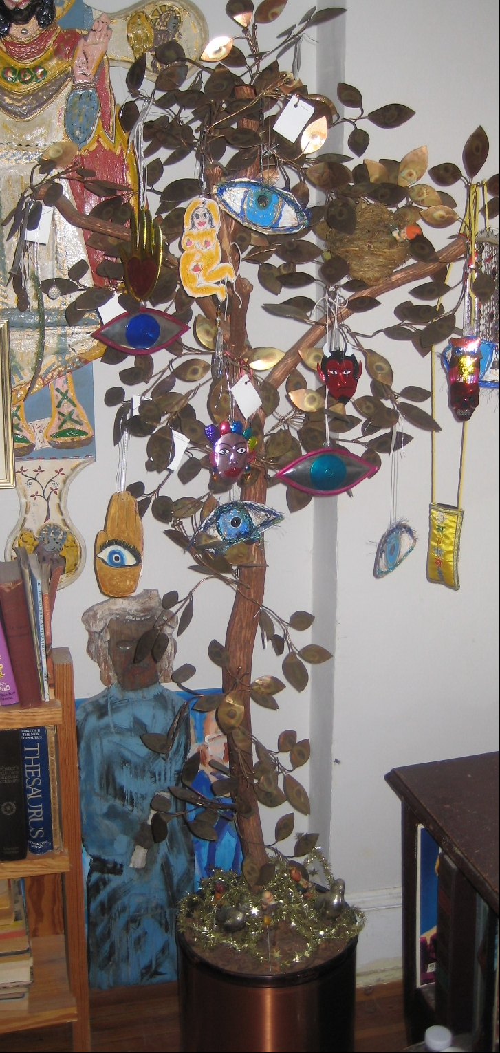 "My ""Tony Duquette"" Copper Leaf Mystic Eye Tree"